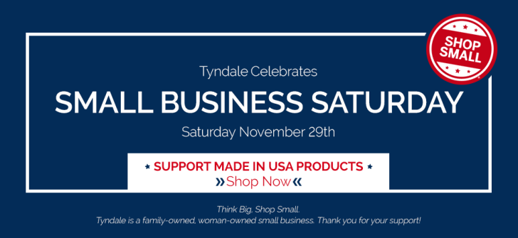 Tyndale Celebrates Small Business Saturday, 11/29/14